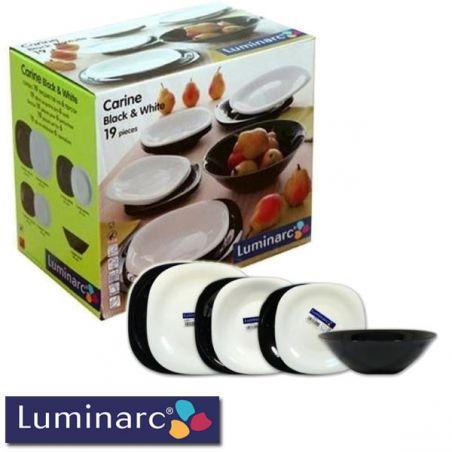 Arkopal tanjiri Luminarc crno-beli set 19 delova